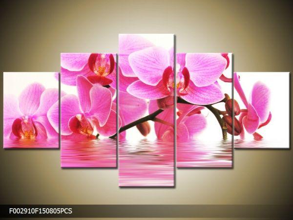 Päťdielna sada moderných obrazov o rozmere 150x80 cm s motívom kvetov