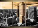 Trojdielna sada moderných obrazov o rozmere 90x60 cm s motívom mesta