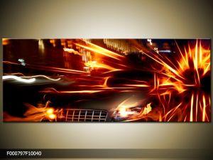 Moderný obraz o rozmere 100x40 cm s motívom ohňa