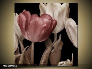 Moderný obraz o rozmere 30x30 cm s motívom kvetov