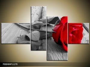 Štvordielna sada moderných obrazov o rozmere 112x70 cm s motívom kvetov