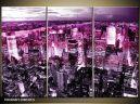 Trojdielna sada moderných obrazov o rozmere 120x80 cm s motívom mesta