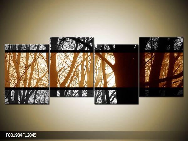 Štvordielna sada moderných obrazov o rozmere 120x45 cm s motívom umenia
