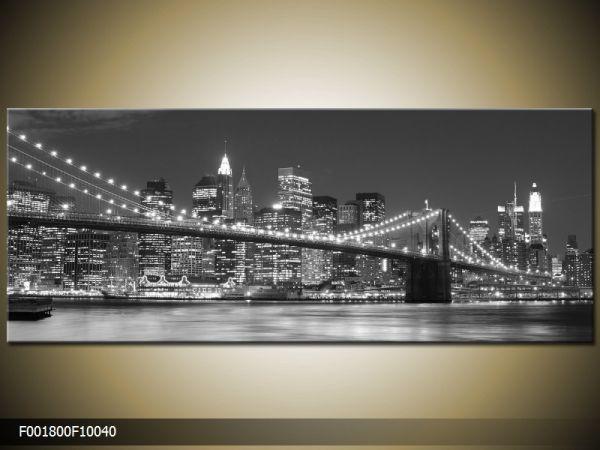 Moderný obraz o rozmere 100x40 cm s motívom čiernobieleho mesta