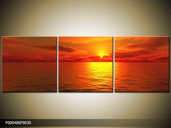 Trojdielna sada moderných obrazov o rozmere 90x30 cm s motívom krajiny